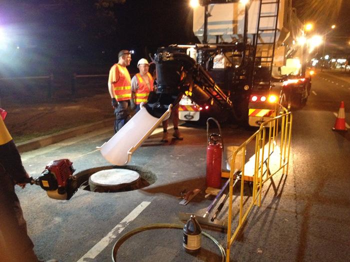 cement mix road repair